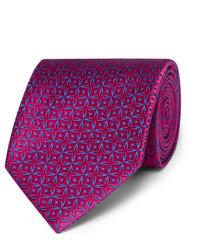 Corbata de seda rosa de Charvet