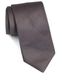 Corbata de seda tejida en gris oscuro de Ted Baker