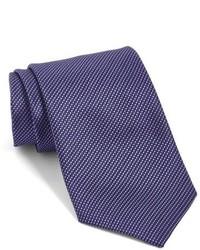 Corbata de seda tejida en violeta de John Varvatos