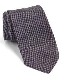 Corbata de seda tejida morado oscuro de John Varvatos