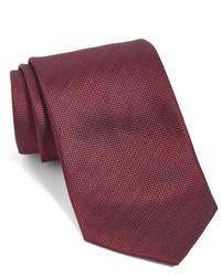 Corbata de seda tejida roja de John Varvatos
