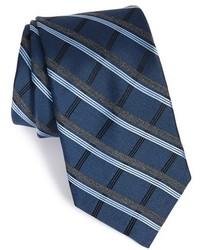 Corbata de tartán azul marino de Michael Kors