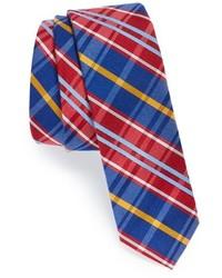 Corbata de tartán en rojo y azul marino de Original Penguin