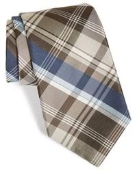 Corbata de tartán marrón de Michael Kors