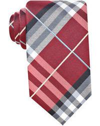 Corbata de tartán roja