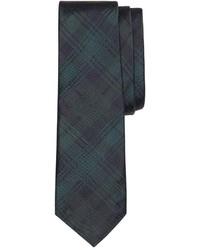 Corbata de tartán verde oscuro