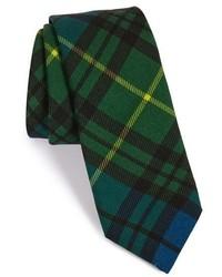 Corbata de tartán verde oscuro de Todd Snyder