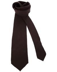 Corbata en marrón oscuro
