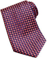 Corbata en rojo y azul marino de Charvet