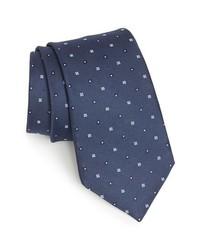 Corbata estampada azul marino de Michael Kors