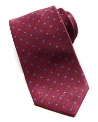 Corbata estampada burdeos de Brioni