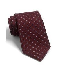 Corbata estampada burdeos de Michael Kors