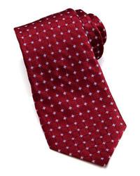 Corbata estampada burdeos de Valentino