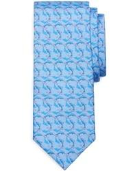 Corbata estampada celeste