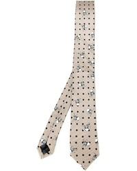 Corbata estampada en beige de Dolce & Gabbana