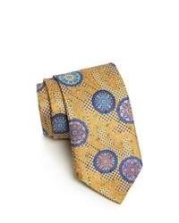 Corbata estampada en beige de Ermenegildo Zegna