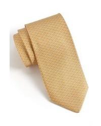 Corbata estampada en beige de Salvatore Ferragamo
