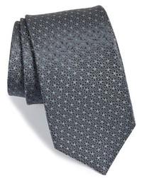 Corbata estampada en gris oscuro de Michael Kors