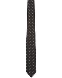 Corbata estampada en negro y blanco de Kenzo