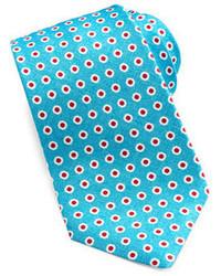 Corbata estampada en turquesa de Kiton