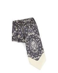 Corbata estampada gris