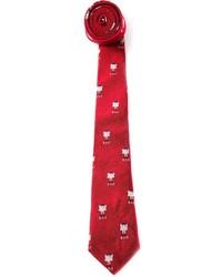Corbata estampada roja de Band Of Outsiders