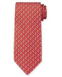 Corbata estampada roja de Salvatore Ferragamo