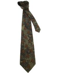 Corbata estampada verde oscuro de Gianfranco Ferre