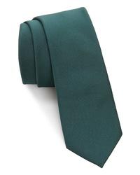 Corbata verde oscuro