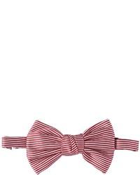 Corbatín de seda de rayas horizontales rojo de DSQUARED2