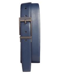 Correa de cuero azul marino