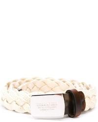 Correa de cuero blanca de DSQUARED2