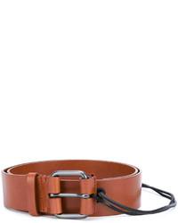 Correa de cuero bordada marrón de A.F.Vandevorst