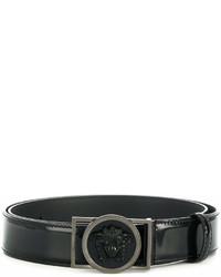 Correa de cuero con adornos negra de Versace