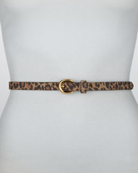 Correa de cuero de leopardo marrón de Rivette