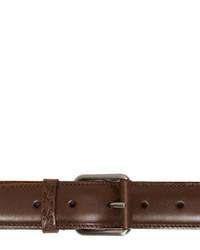 Correa de cuero en marrón oscuro