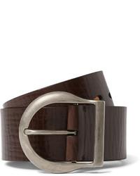 Correa de cuero en marrón oscuro de Tom Ford
