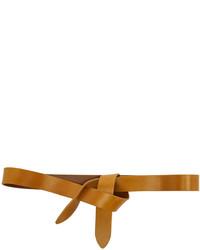Correa de cuero marrón claro de Isabel Marant