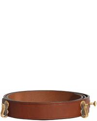 Correa de cuero marrón de Burberry