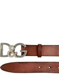 Correa de cuero marrón de Dolce & Gabbana