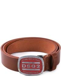 Correa de cuero marrón de DSQUARED2