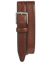 Correa de cuero marrón de Johnston & Murphy