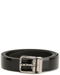 Correa de cuero negra de Dolce & Gabbana