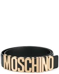 Correa de cuero negra de Moschino