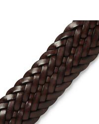 Correa de cuero tejida en marrón oscuro de Andersons