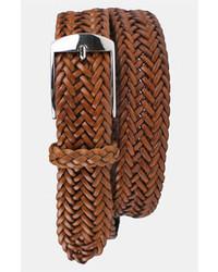 Correa de cuero tejida marrón de Martin Dingman