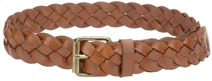 Correa de cuero tejida marrón de Paul & Joe