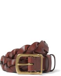 Correa de cuero tejida marrón de Polo Ralph Lauren