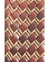 Correa de cuero tejida marrón