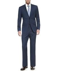 Costume à rayures verticales bleu marine Hugo Boss